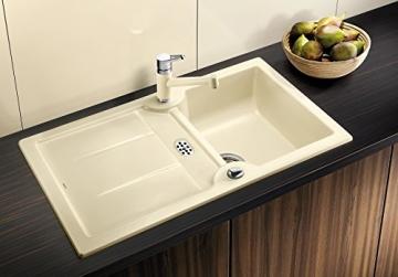 Blanco Idessa 5 S Kristallweiß Auflage Weiß Keramikspüle Küchenspüle Einbauspüle - 3