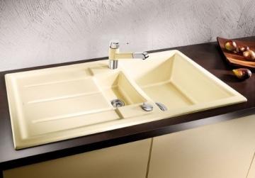 Blanco Prion 6 S Kristallweiß Keramik Einbauspüle Weiß Küche Spültisch Auflage - 2