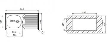 Pyramis Einbauspüle CA 1 von Pyramis - 2
