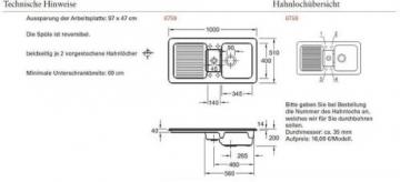 Villeroy & Boch Condor 60 Cappuccino Keramik-Spüle Beige Küchenspüle Einbauspüle - 2