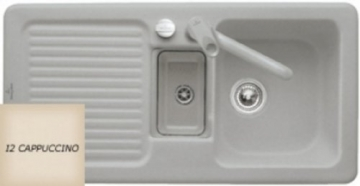 Villeroy & Boch Condor 60 Cappuccino Keramik-Spüle Beige Küchenspüle Einbauspüle - 1